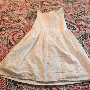 H&M eyelet keyhole back Dress Size 7-8